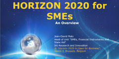 HORIZON 2020 for SMEs – Overview by EC