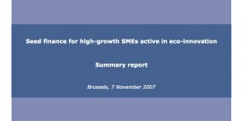 Seed finance for high-growth SMEs active in eco-innovation